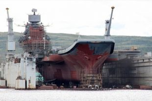 Russia's Only Aircraft Carrier Huge Floating Dry Dock Has Accidentally Sunk