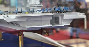 Detailed view of Krylov's light aircraft carrier stern area