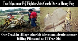 Two Myanmar F-7 Fighter Jets Crash