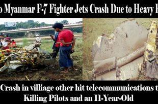 Two Myanmar F-7 Fighter Jets Crash