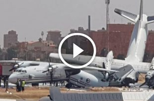 Two military transport aircraft collided at Khartoum airport in Sudan