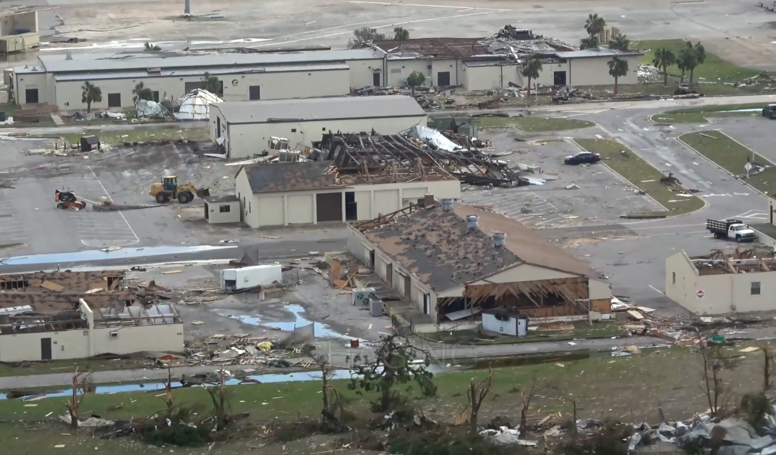 U.S.A.F Tyndall Air Force Base took a direct hit from Hurricane Michael