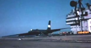 U-2 Spy Plane Landings and Takeoffs on Aircraft Carrier