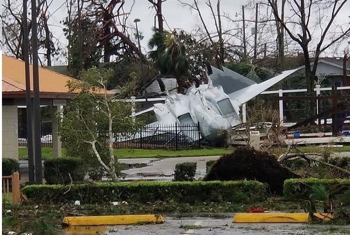 U.S. Air Force base in Panama City took a direct hit from Hurricane Michael