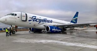 Russian passenger jet skids on ice suffered a collapse of the main landing gear