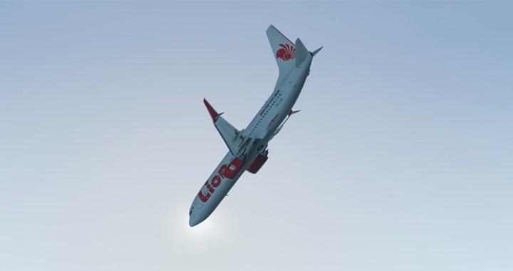 Crash Animation of Lion Air Flight JT610 Boeing 737 plane