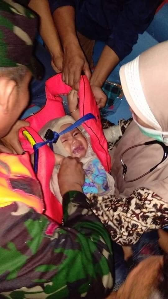 Did a baby survive Indonesian plane crash?