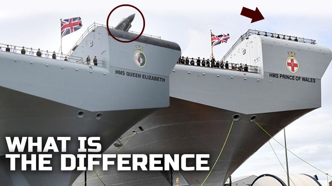 Difference between HMS Queen Elizabeth and HMS Prince of Wales