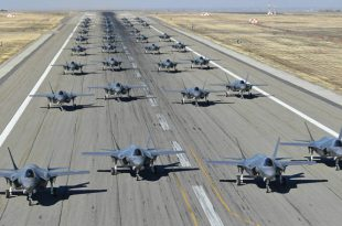 "F-35's First-Ever ""Elephant Walk"" With 35 Lightning II Aircraft At Hill AFB"