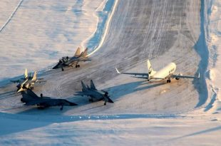 Four Russian MiG-31 fighter jets stuck in a civilian airport in Usinsk