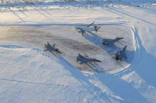 Four Russian Mikoyan MiG-31 made an emergency landing in Usinsk