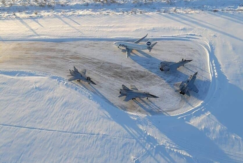 Four Russian Mikoyan MiG-31 made an emergency landing in Usinsk