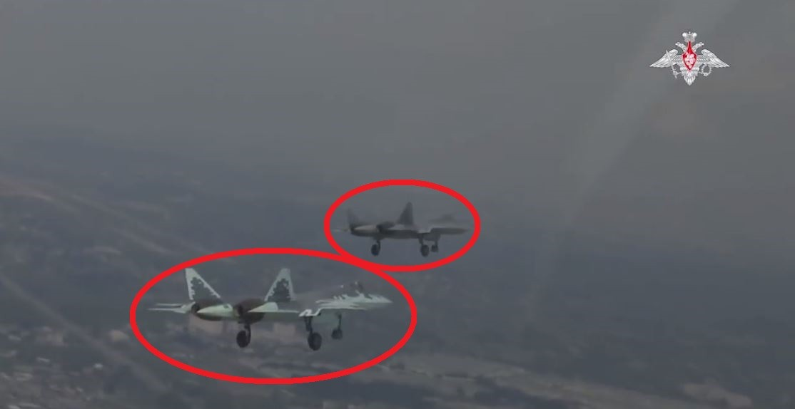 Russia Releases Video of Su-57 fly their 1st combat mission in Syria