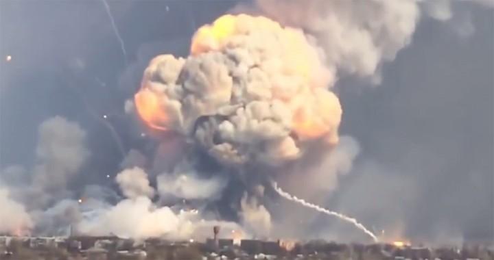 Russia used Drone to Blows Up Ukraine $1 Billion Ammunition Depot