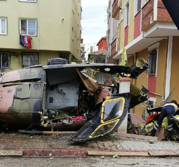 Sikorsky S-70A Black Hawk helicopter crash in Istanbul