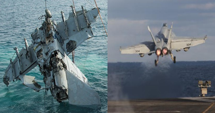 US Navy F/A-18E Super Hornet crashed into the Philippine Sea
