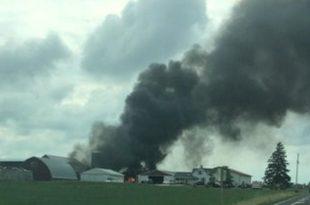 Video of Devastating vintage Plane Crash in Wisconsin