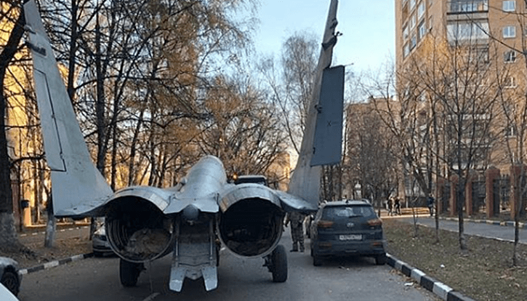 WATCH MiG-29 Fighter Jet Driven Through Street Near Moscow