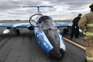 Aero L-29 Delfín emergency Nose Gear Up Landing