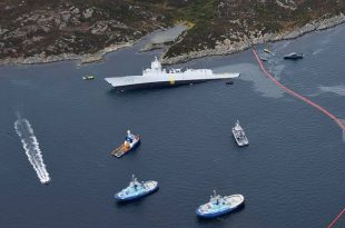 Norwegian Frigate Intentionally Ran Aground After Tanker Collision