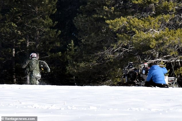 Tom Cruise Reunites With An F-14 Tomcat on Snowy Set in Tahoe In 'Top Gun 2'
