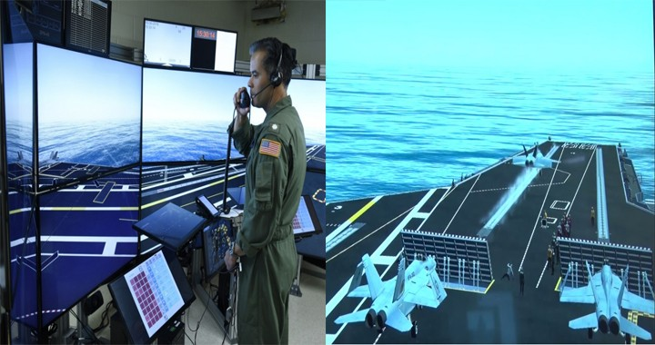 Watch First of its kind Aircraft carrier flight deck simulator in action