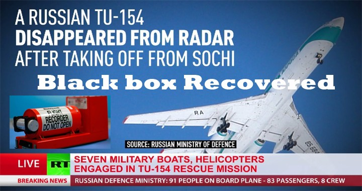 Black box of crashed Tu-154 found at depth of 17 meters after 2 years