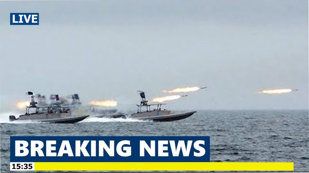 Iranian Ships Fire Rockets as US Aircraft Carrier enters in Persian Gulf