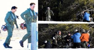 Tom Cruise Runs In Flight Suit through the snow in Lake Tahoe for intense Top Gun 2 scenes