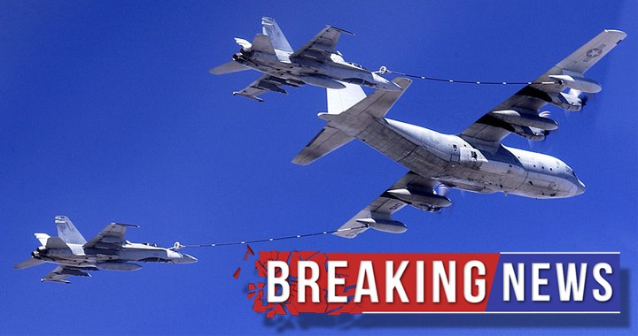 U.S. Marine Corps C-130 & F/A-18 crash off the coast of Japan, after an Aerial Refueling Mishap