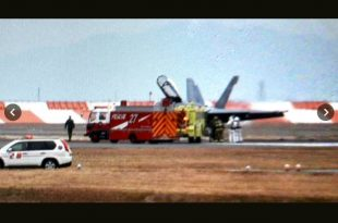 U.S. Marine Corps F/A-18 Hornet made an emergency landing at MCAS Iwakuni