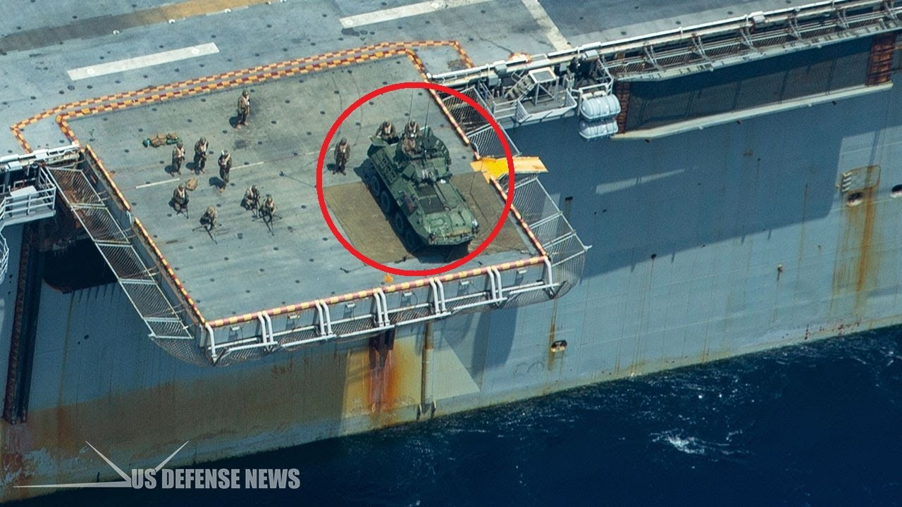 U.S. Marine Corps is Strapping light armored vehicles to the Flight Deck