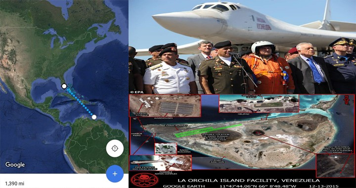 Venezuela Agreed To Let Russia Set Up A Bomber Outpost at La Orchila Island 1300 miles from Florida