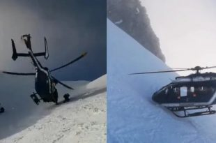 Watch: Daring Helicopter pilot Rescue injured skier in the French Alps