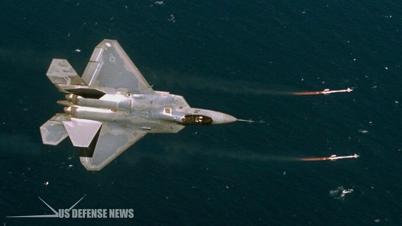How F-22 Raptor flew under two Iran F-4 Phantom who tries to intercept an MQ-1 drone