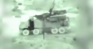 Israel targeted several Pantsir-S1 air defense system and Iranian positions in Syria