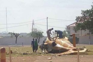 Mali Air Force Harbin Z-9A Helicopter crash at Kati military base