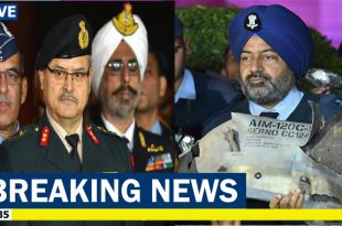 India tri-service chiefs press Briefing: Shared evidence of F-16 being used in Pakistani raid - F-16 fired AIM-120 AM-RAAM missile'