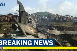 Indian Air Force MIG-21 crashed in Budgam, Kashmir, 2 pilots and 1 dead