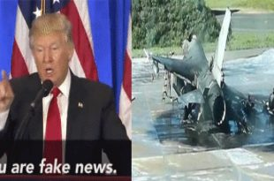 Indian website & Facebook pages posted Fake news that Pakistan Shoot Its Own F-16 fighter jet