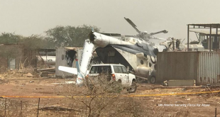 Mil Mi-8 helicopter carrying 23 troops crashed in United Nations compound, three killed