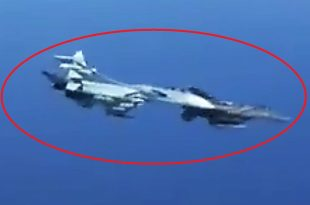Russian pilot release video of Su-27 dangerously Turning Into A U.S.A.F F-15 During Intercept
