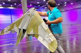 Stunning RC Lightweight HORTEN HO-229 Scale Model Airplane Indoor Flight Demo Video