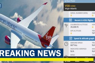 Virgin Atlantic Flight Reaches 801 MPH sets new speed record after on a flight from LA to London that took just 9 hours 13 minutes