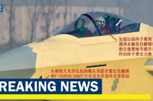 X-Ray Vision System Only Seen on US Jets spotted on Chinese j-20 fighter jet