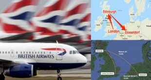 British Airways flight mistakenly lands in Scotland instead of Germany