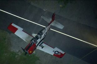 Cessna 152 crashed after a mid air collision with a North American T-28B Trojan at Compton airport, 1 dead & 1 injured