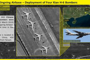 Satellite imagery shows China deployed Four H-6 strategic bombers near Taiwan coasts