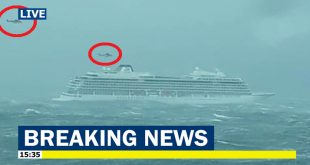 Cruise liner with 1,300 passengers onboard calls MAY DAY, Helicopter rescue underway
