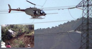 Ecocopter Helicopter carrying power lines workers crash in Colliguay, 6 dead